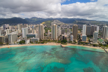 Waikiki Beach Hawaii aerial photo