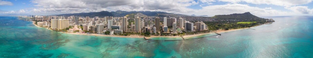Amazing aerial of Oahu Hawaii