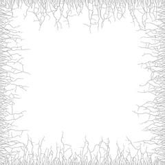 Cracks vector grunge background in white background