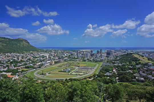 Aerial Port Louis Mauritius sykyline
