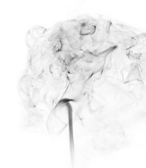 Smoke background. Abstract smoke on white background.