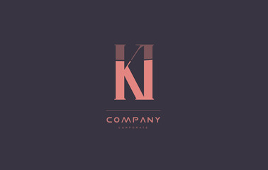 Obraz ki k i pink vintage retro letter company logo icon design - fototapety do salonu
