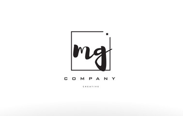Fototapeta mg m g hand writing letter company logo icon design obraz