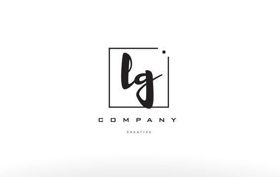 lg l g hand writing letter company logo icon design