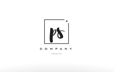 ps p s hand writing letter company logo icon design