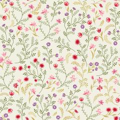 Floral seamless pattern. Flower background. Floral seamless texture with flowers. Flourish garden wallpaper