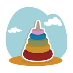 pile blocks kids toy isolated icon vector illustration design
