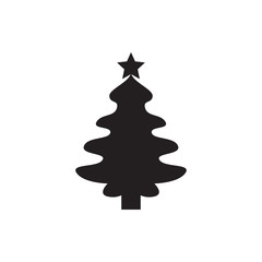 Christmas tree icon illustration