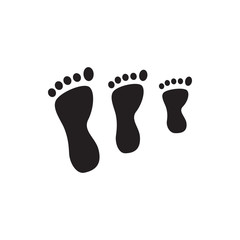family footprint icon illustration