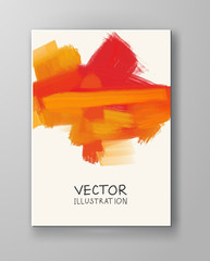 Vector banner shapes isolated on white