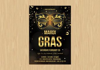 Mardi Gras Event Flyer Layout 2