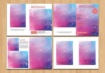 Magazine Style Wedding Portfolio Layout