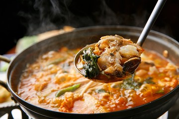 maeuntang. Spicy Fish Stew.