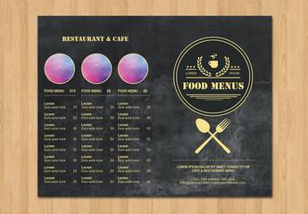 Restaurant Menu Layout - Dark