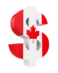 Dollar Sign with Flag of Canada