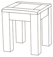 The simple backless stool