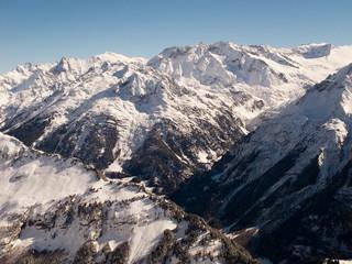 Winter im Berner Oberland bei Hasliberg, Schweiz