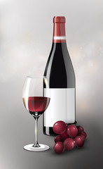 Realistic Red Wine Poster