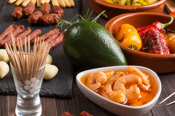 Bar with spanish tapas starters