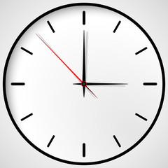 Stock vector clock