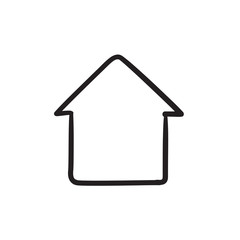 House sketch icon.