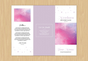 Pastel Color Newborn Photography Brochure