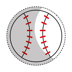 baseball sport isolated icon vector illustration design