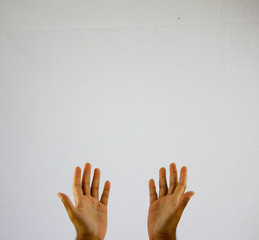 Hands Praying Dua white background