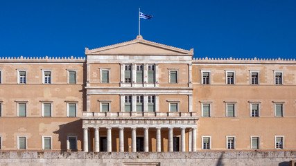 Amazing view of The Greek parliament in Athens, Attica, Greece