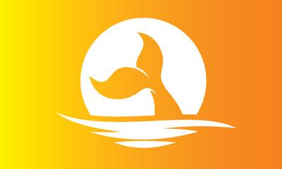 whale vector logo