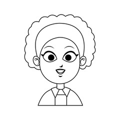 face of young pretty woman icon image vector illustration design