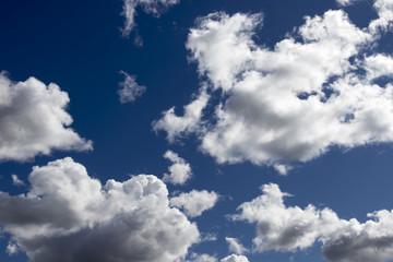 Fluffy Clouds on Blue Sky
