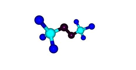 Bistrifluoromethylperoxide molecular structure isolated on white