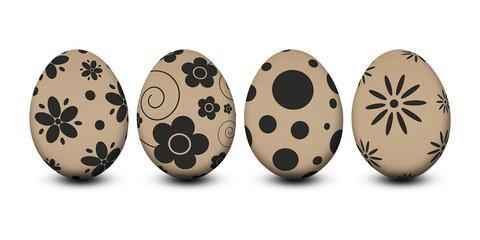 easter egg with paper texture