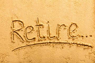 Retirement Concept On Beach