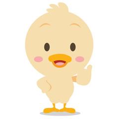 Character standing duck vector art