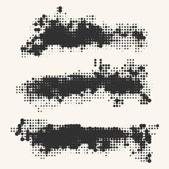 Halftone illustration. Black and White Grunge Effect.