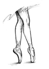 Ballerina's leggs