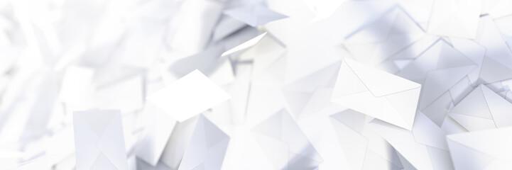 Infinite mail envelopes, 3d rendering background Fototapete