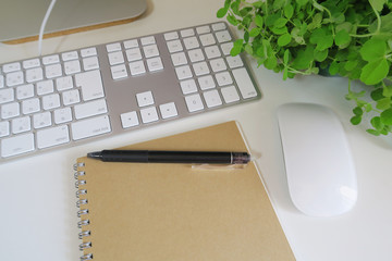 work space keyboard green
