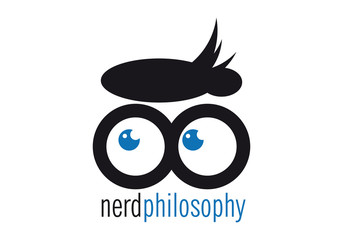 logo nerd con occhiali