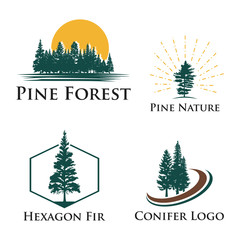 Pine Fir Conifer Tree Camping Adventure Nature Logo
