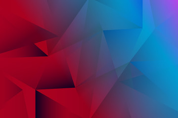 red and blue design