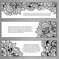 Set of Card or invitation.vector template.