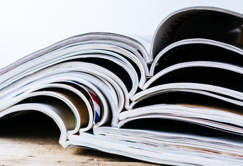 stack of magazines. background or texture
