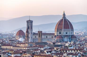 Fotobehang Florence Santa Maria Novella aerial view, Florence