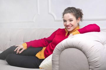 Sitting on the sofa