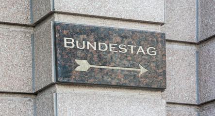 Schild 204 - Bundestag