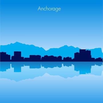 Anchorage Vector skyline