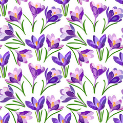 floral pattern with crocus